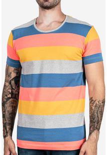 Camiseta Listrada Mescla Colors 102404