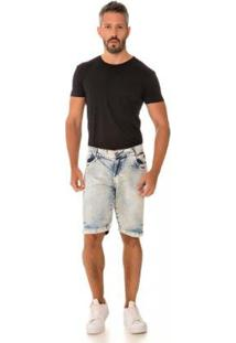 Bermuda Jeans Express Matheus Masculina - Masculino-Azul