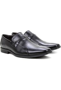 Sapato Social Couro Ferracini Los Angeles - Masculino-Preto