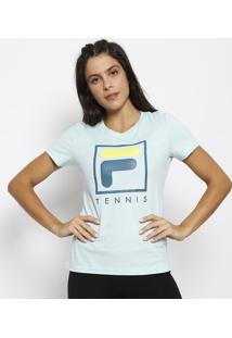 "Camiseta ""Tennis"" - Verde Água & Verde Escurofila"