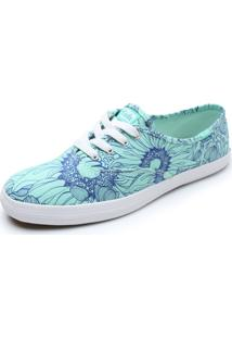 Tênis Keds Champion Floral Verde/Azul