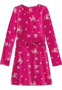 Vestido Curto Barbie® Malwee Kids