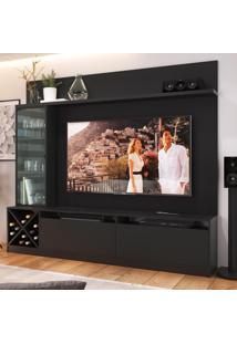 Estante Para Tv Até 50 Polegadas 2 Portas 2021 Ptx Preto - Quiditá Móveis