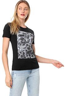 Camiseta Calvin Klein Folhas Preta