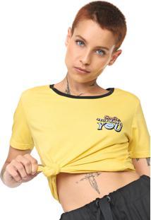 Camiseta Volcom Stoked On Stone Amarela - Amarelo - Feminino - Dafiti