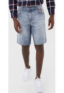 Bermuda Jeans 2Nd Floor Reta Estonada Azul