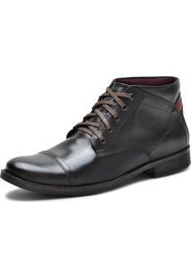 Bota Casual Over Boots Denver Couro Soft Marrom Escuro