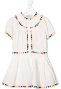 Stella Mccartney Kids Vestido Com Bordado De Coração - Branco