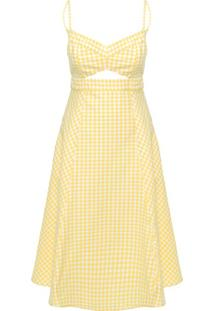 Vestido Midi Vichy Jaqueline