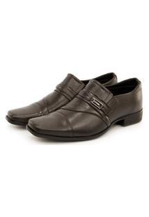 Sapato Social Masculino Sport Fino Couro Bico Quadrado