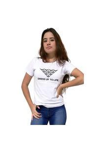 Camiseta Feminina Cellos Mosaico Premium Branco