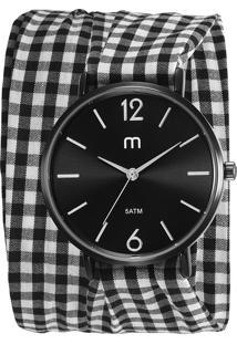 Kit De Relógio Analógico Mondaine Feminino + Pulseira - 32046Lpmgpd1K Preto