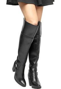 Bota Couro Over The Knee Shoestock Fivela Feminina - Feminino