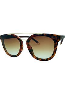 2b0dea52480de Óculos De Sol Fashion Tartaruga Garnet Feminino - Feminino-Marrom