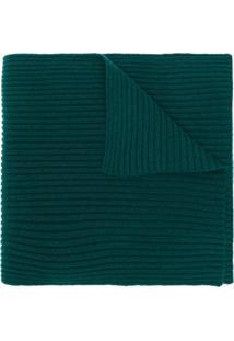 N.Peal Cachecol Canelado De Cashmere - Verde