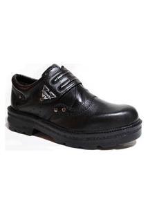 Bota Sapato Estilo Roqueiro Netony Calçados Preto