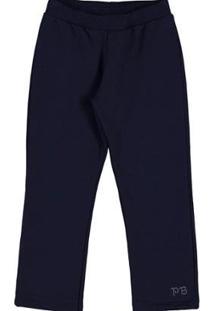 Calça Marinho-Primeiros Passos Menina-Moletom-35709-58 - Feminino-Azul
