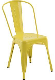 Cadeira Iron Sem Braços Amarela Rivatti Móveis
