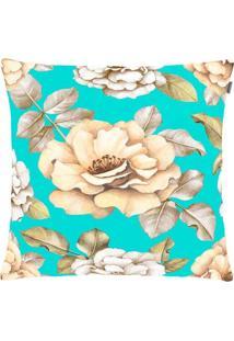 Capa Para Almofada Patch Arte 45Cmx45Cm Azul Tiffany