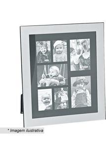 Painel De Fotos Retangular- Preto & Prateado- 20X20Xbtc Decor