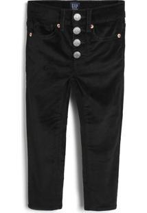 Calça Jeans Gap Infantil Lisa Preto