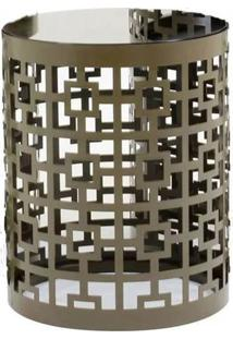 Mesa Lateral Gala Media Bronze 45 Cm (Alt) - 35808 - Sun House