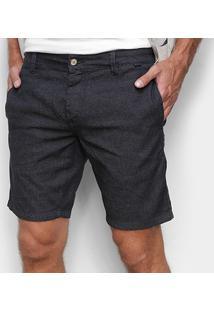 Bermuda Jeans Reserva Slim Masculina - Masculino-Preto