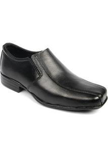 Sapato Social Infantil Couro Conforto Masculino - Masculino-Preto