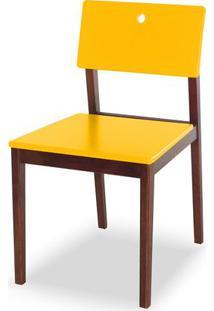 Cadeira Flip Cor Cacau Com Amarelo - 30823 - Sun House