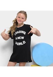 Camiseta Infantil Dimy Candy Estampada Feminina - Feminino-Preto