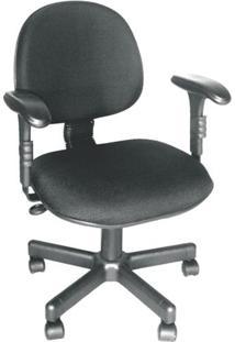 Cadeira Executiva Giratória Ce-01 Em Couro Ecológico Preto Ce250 Pethiflex