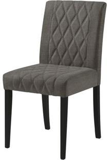 Cadeira Menta Assento Cor Cinza Com Base Laca Preto Fosco - 46453 - Sun House