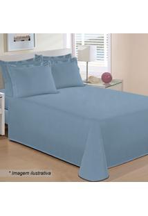 Lençol Reffinata Casal- Azul- 30X138X188Cm- 200 Buettner