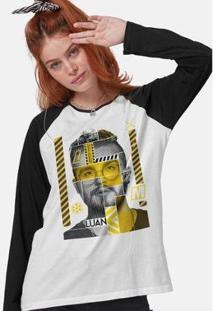 Camiseta Manga Longa Feminina Luan Santana Lm - Feminino