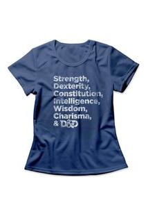 Camiseta Feminina Attributes Azul