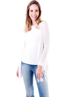 Casaqueto Gup'S Jeans Tricô Off White