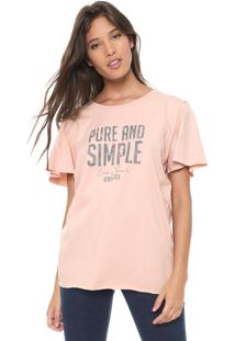 Camiseta Colcci Pure And Simple Bege