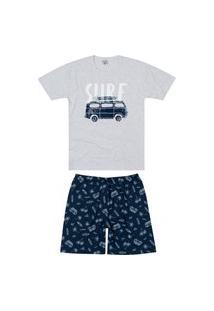 Pijama Masculino Curto Malwee 1000083418 Cinza