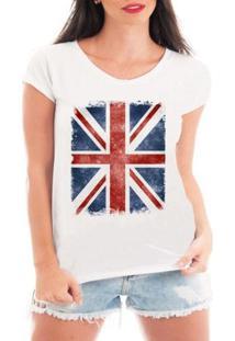 Camiseta Criativa Urbana Bandeira Londres - Feminino