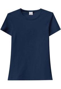 Camiseta Feminina Malwee 1000004500 02023-Marinho