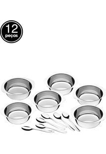 Kit Para Sobremesa 12 Pçs Service Aço Inox Tramontina