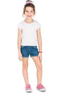 Blusa Infantil Premium Rovitex Kids Feminina - Feminino-Branco