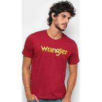 397e987b7 Camiseta Wrangler Manga Curta Masculina - Masculino-Vinho