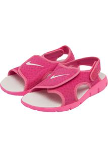 Papete Nike Infantil Sunray Adjust 4 (Gs/Ps) Rosa/Branco