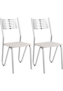 Kit Com 2 Cadeiras Kappesberg Nápoles Com Acabamento Cromado - 2C045Cr