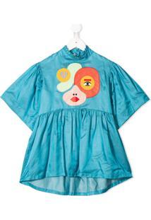 Raspberry Plum Vestido Hannah - Azul