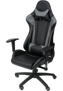 Cadeira Office Gamer Fun Em Pu Cor Preto Com Base Nylon - 46655 Sun House