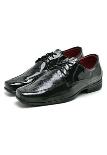 Sapato Social Masculino Mb Outlet Verniz Preto Exclusivo
