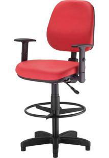 Cadeira Corporate Executiva Cor Vermelho Com Base Caixa - 43948 - Sun House