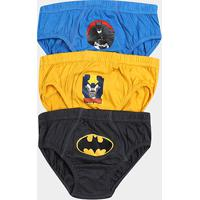 7dfeb592b Kit Cueca Infantil Lupo Batman Com 3 Peças - Masculino